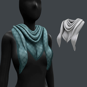 3D scarf green