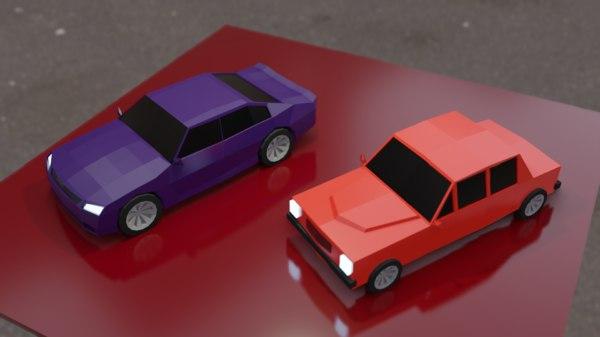 blender cars 3D model