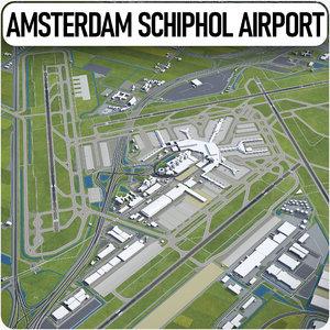 amsterdam airport schiphol ams 3D model