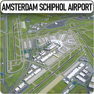 amsterdam airport schiphol ams 3D model