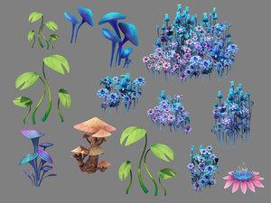 river flower 3D model