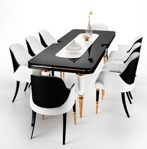 3D model dining table