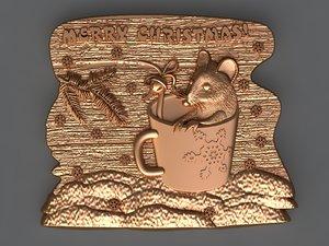 christmas mouse 3D model