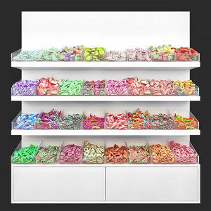 3D candy food sweet model