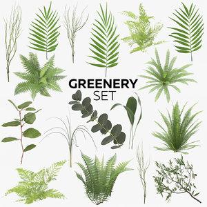 3D greenery set