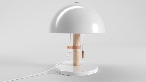 3D lamp mush model