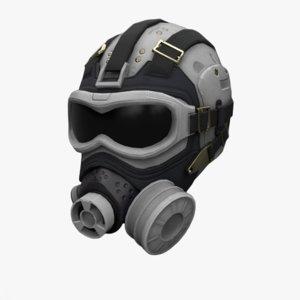 3D scifi helmet model