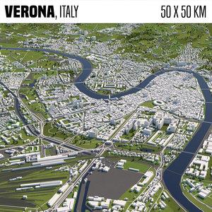 3D model world buildings houses