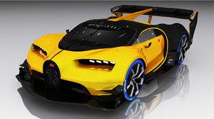 bugatti turismo vision 3D model