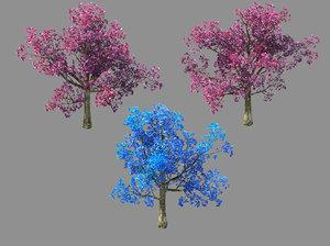 3D moon temple - cherry blossom