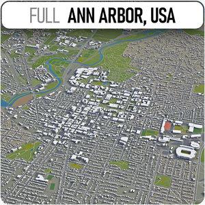 3D ann arbor surrounding -