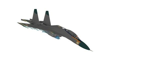 sukhoi su-30 3D model