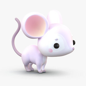 cute cartoon mouse rat 3D