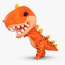 3D cute cartoon dinosaur t-rex model