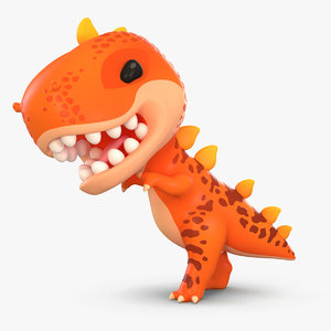 3D cute cartoon dinosaur t-rex model