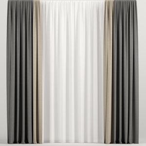 3D curtains tulle