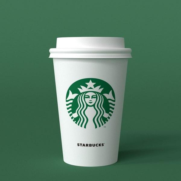 starbucks takeaway cup 3D model