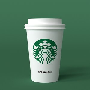 starbucks takeaway cup 3D model