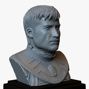 3D bust jaime lannister thrones model