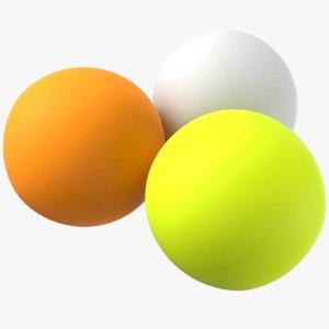 3D model ping pong balls