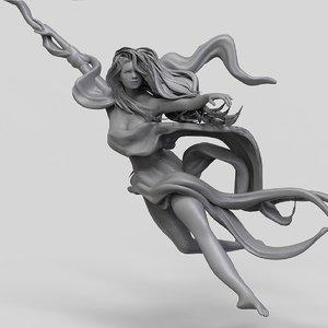 pole dance woman 3D model