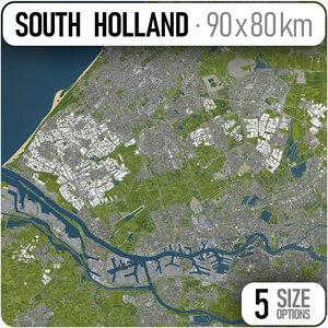 city south holland area 3D model