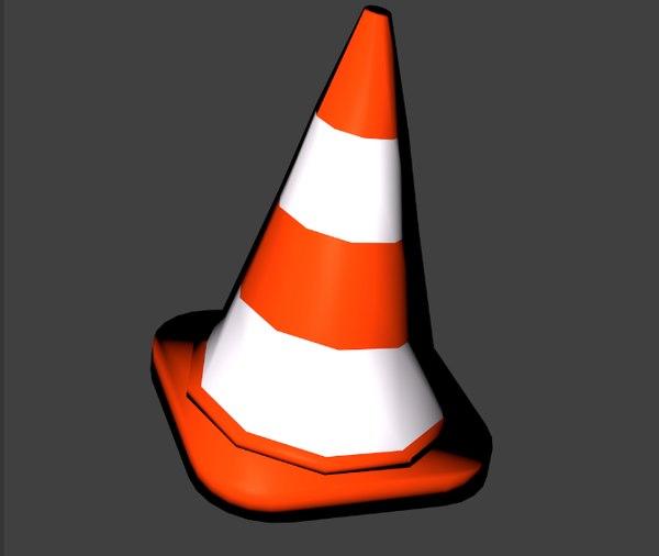 traffic cone 3D model