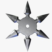 3D model throwing star