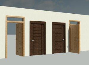 revit doors 3D model
