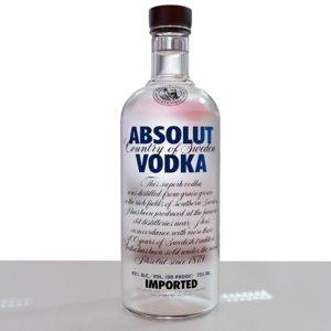 absolut vodka 3D
