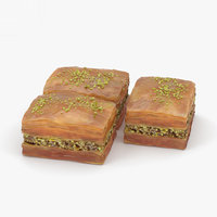 3D model sweet food