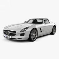 3D mercedes-benz sls-class 2011 model