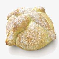 3D pan muerto bread