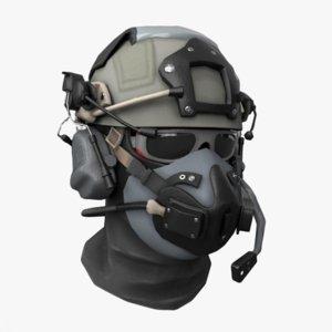 3D scifi helmet