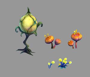 3D yunmengze - strange plants