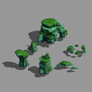 3D model yunmengze - stone 33