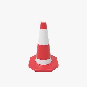 traffic cone v2 3D model