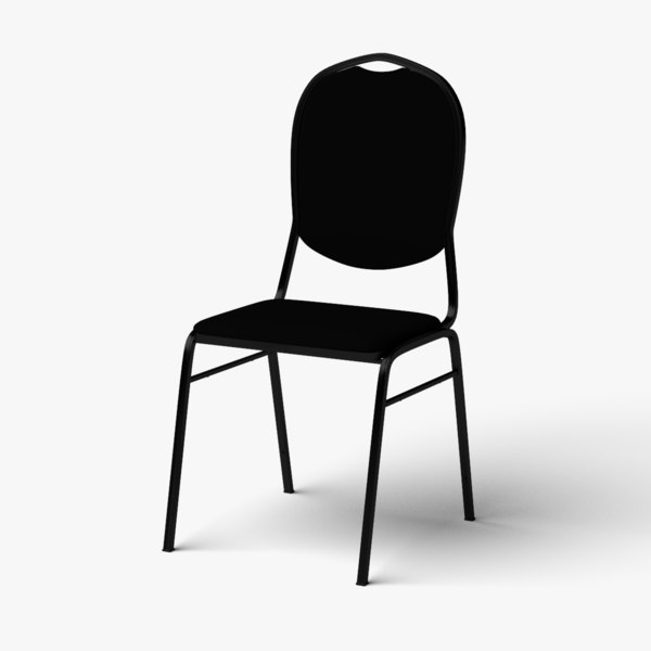 3D oval banquet chair model
