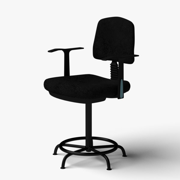 counter office chair 3D model