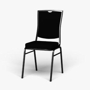 3D rectangular banquet chair