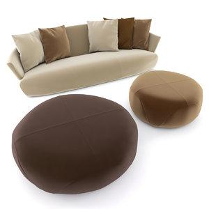 giorgetti solemyidae sofa 3D model