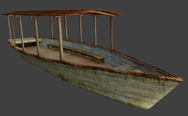 old river boat 3D model