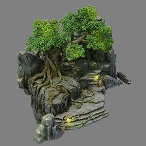 fallen land - stone model