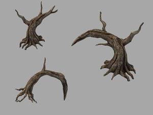 fallen land - trunk 3D model