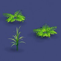 3D model weeds - small plants