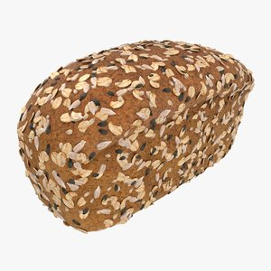 realistic multigrain bread 3D model