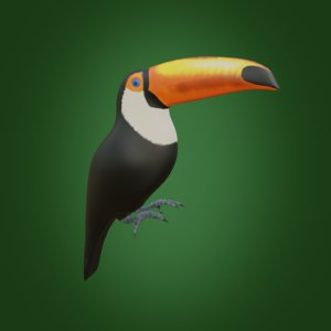 3D bird nature animal model