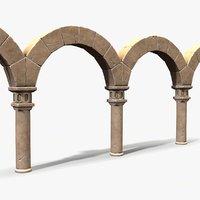 3D model ready stylized colonnade
