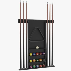 real billiard rack model