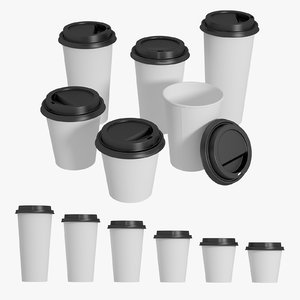coffee cups set model